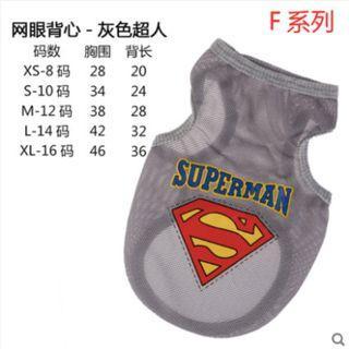 Superman Polyester Dog Vest