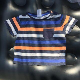 Baby & Toddler Stripe T-Shirt Blue and Orange/ Kaos Anak