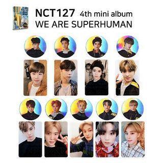 NCT 127 SUPERHUMAN PHOTOCARD & CIRCLE CARD
