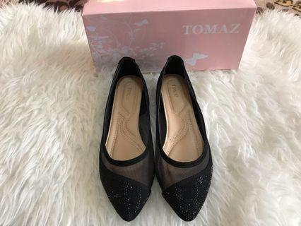 Tomaz Pointed Flat Black Shoes