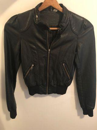 Faux leather bomber jacket H&M