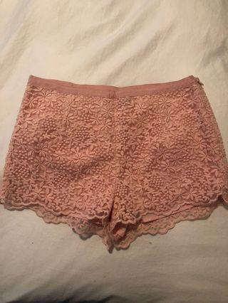 Pink shorts forever 21