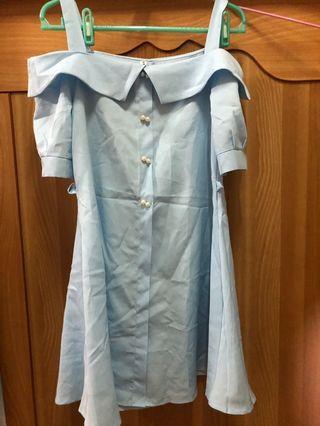 🚚 一字領洋裝