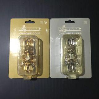 🚚 Medicom Toy Rabbrick Chrome Gold+Silver