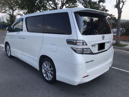 Toyota Velfire For Rent