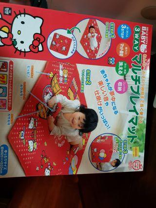 Hello Kitty 玩具墊playmat,99%新