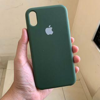Case Apple Silicone iPhone XR - Blackish Green