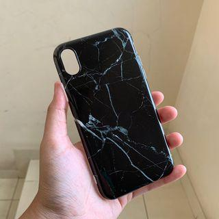 Marble Black Case iPhone XR