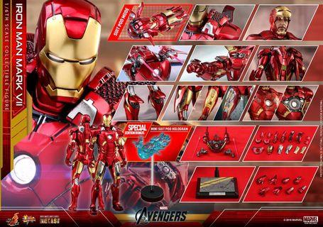 🚚 (RESERVED) Hot Toys Iron Man Mark 7 Diecast Special Edition MMS500D27B