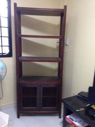 Teak wood book shelf