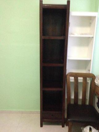 Teak wood small compactbook shelf