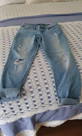 Distressed  jeans size 8 to 10