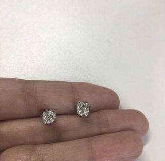 GIA certified diamond earrings - 0.30 carats each