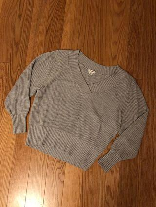 Garage Heather Grey Knit Sweater (Size XS)