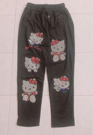Hello kitty Bling drawstring Pants with both side pocket