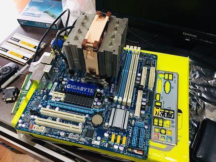 Amd (6 core) + Mobo Am3 + 4GB ram + Noctua cooler