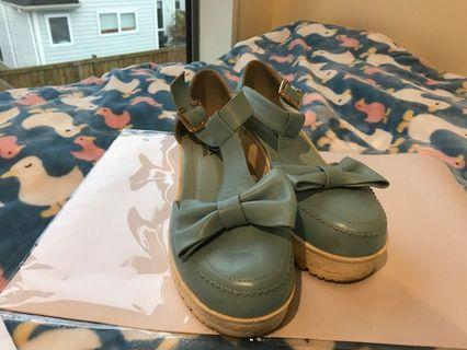 Pretty light blue shoe