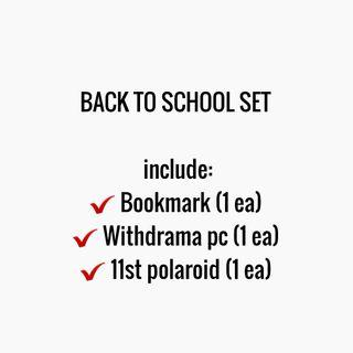[SHARING] NCT 127 BACK TO SCHOOL KIT