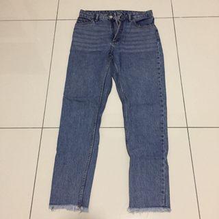 Monki high waisted ruffles jeans