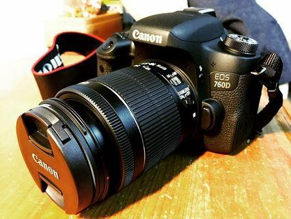 Canon760D機身+18-55mm鏡頭+BENRO防水相機包+2顆原廠電池充電器+乾燥箱及乾燥劑x3 !!可拆賣議價