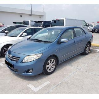 Totoya Altis 1.6A for short and long term rental
