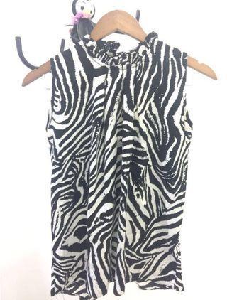 Blouse Motif Zebra