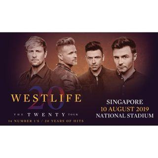 WESTLIFE The Twenty Tour Singapore CAT 1 Concert Tickets