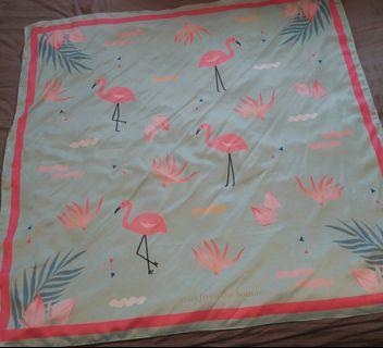 Flamingo Silk Shawl
