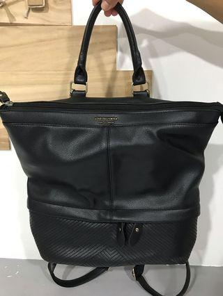 Switzerland brand : Leather black backpack bag