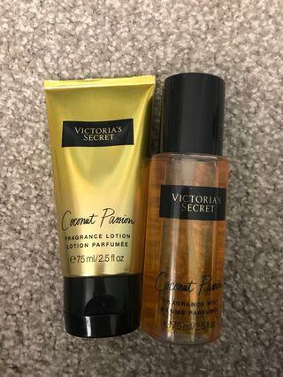 Victoria secret coconut passion lotion and fragrance