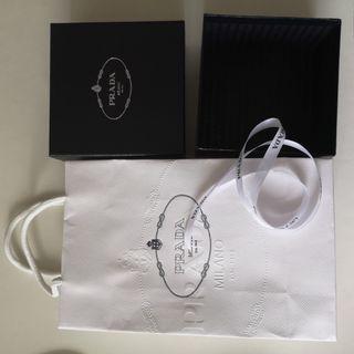 Prada authentic paper bag& box