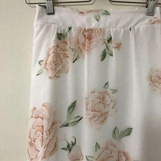 🚚 透膚玫瑰雙層花裙