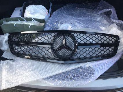 Benz C Class W204 鬼面罩 黑色