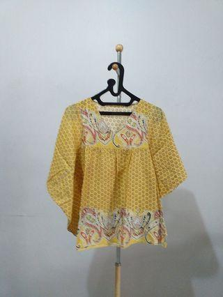 Yellow Batwing Top