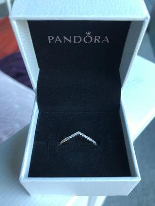 Pandora rose gold wish bone ring