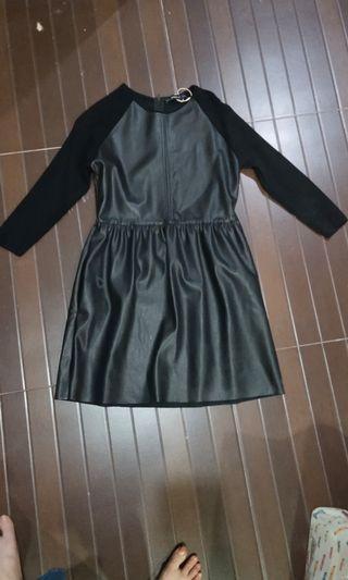 dress leather zara authentic new