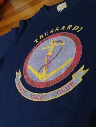 🚚 Authentic Vintage Trussardi Navy Tee Shirt