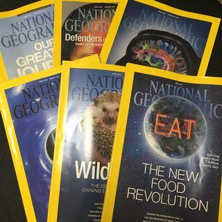 National Geographic Magazines 2013 & 2014