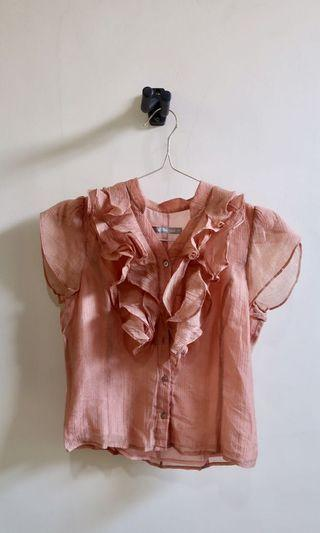 Pink Lace Top Renda