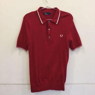Fred perry 經典紅色polo衫