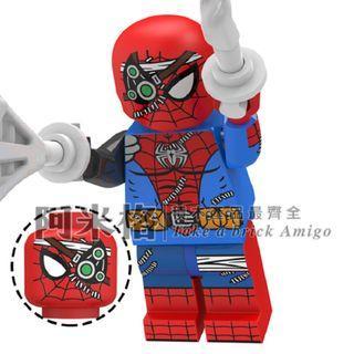 阿米格Amigo│XP198 蜘蛛俠 賽博戰衣 Spider Man 蜘蛛俠4 決戰千里 蜘蛛人 超級英雄 積木 第三方人仔 非樂高但相容 滿30隻包郵