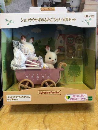 全新🔆森林家族Sylvanion Families 兔仔bb嬰兒車玩具