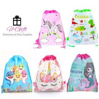 [PS] Dinosaur Unicorn Baby Shark Mermaid Drawstring Bag