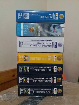 HCM PRO 機動戰士高達gundam(7盒)