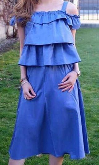 Stunning jeans dress