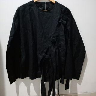 [NEW] Berrybenka Black Shirt Baju Blouse Hitam Tali