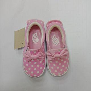 含運 vans童鞋 粉色圓點蝴蝶結15cm