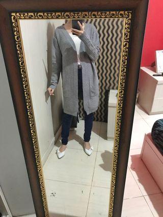 Cardigan knit grey