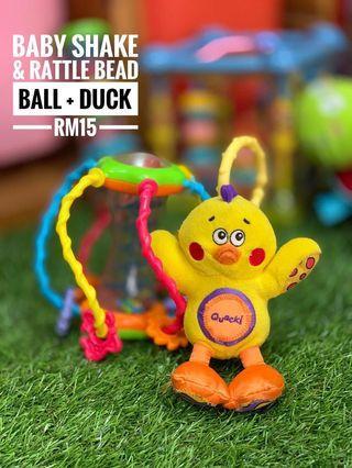 Baby shake & rattle bead ball + duck