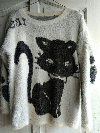 Sweater gambar kucing